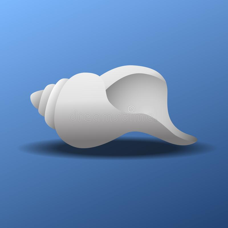 Conch shell vector illustration. Conch shell icon vector illustration royalty free illustration