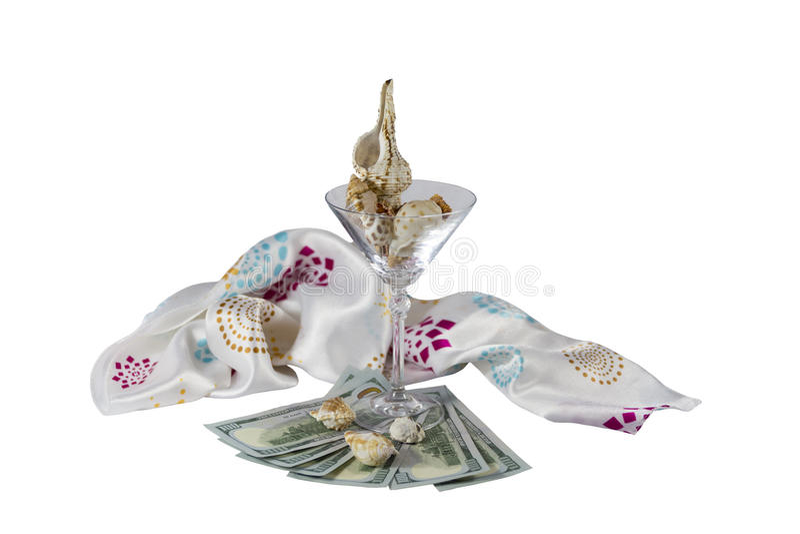 Conchas do mar do dólar de vidro fotografia de stock royalty free