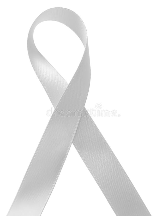 Conciencia blanca de la cinta aislada en el fondo blanco imagen de archivo libre de regalías