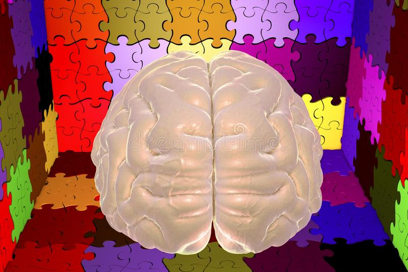 Conciencia del autismo y concepto autístico de los desordenes imágenes de archivo libres de regalías