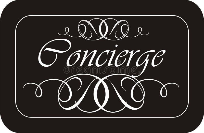 concierge σημάδι ελεύθερη απεικόνιση δικαιώματος