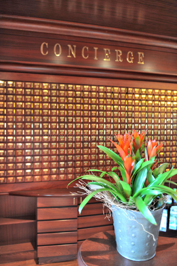 concierge biurko zdjęcie royalty free