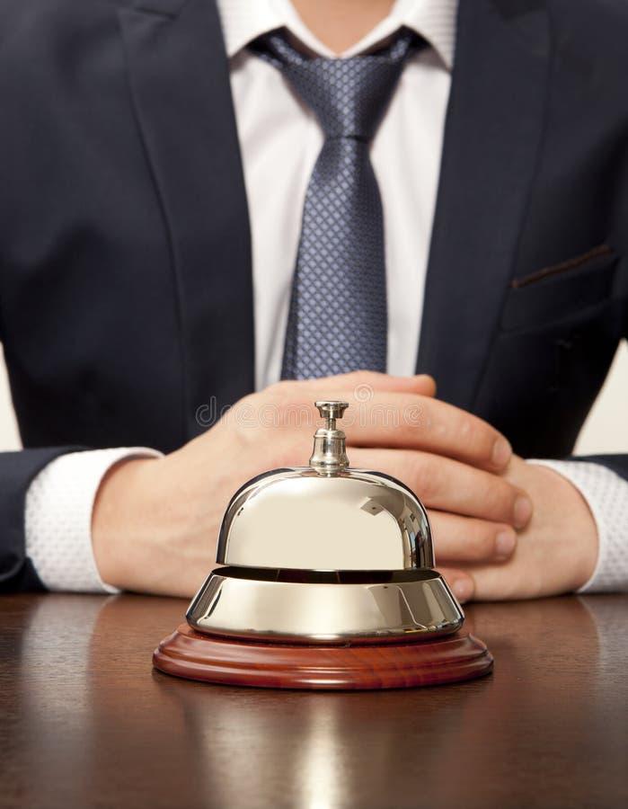 Concierge do hotel fotografia de stock