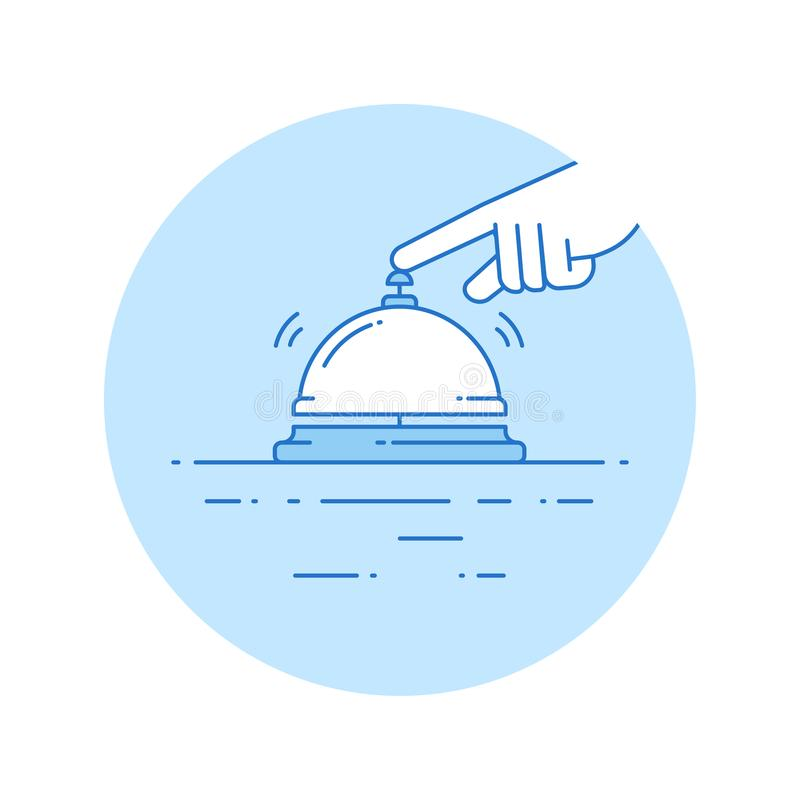 Concierge icon in lineart style stock illustration