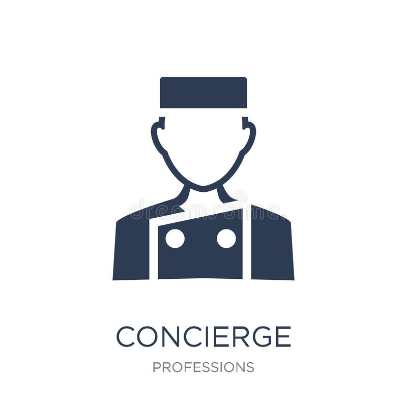 Concierge icon. Trendy flat vector Concierge icon on white background from Professions collection vector illustration