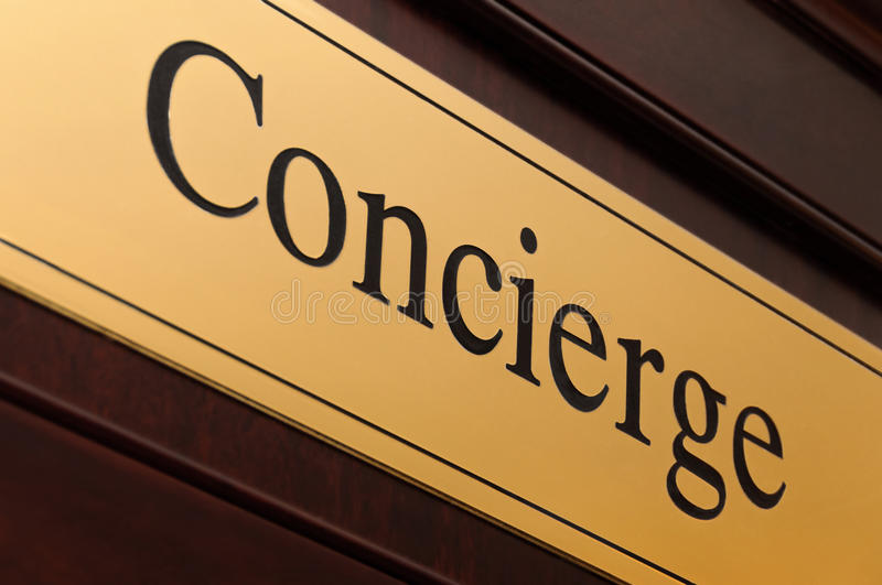 Download Concierge Sign Stock Photo - Image: 36695710