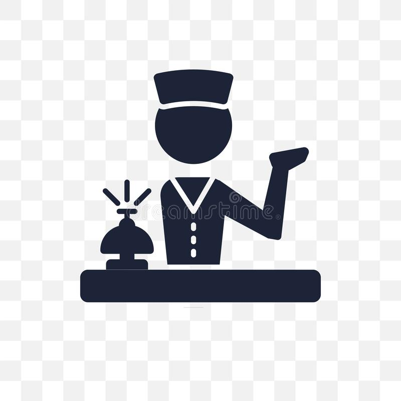 Concierge transparent icon. Concierge symbol design from Profess vector illustration