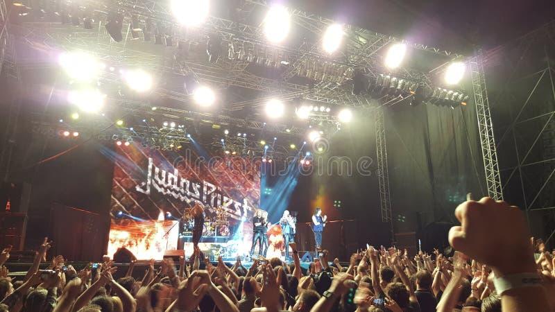 Concierto de Judas Priest imagen de archivo libre de regalías