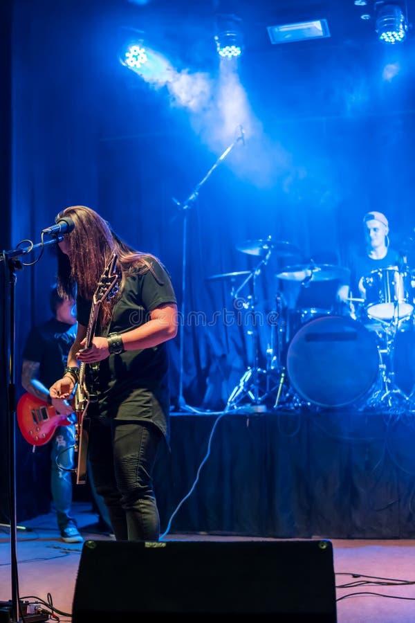 Concierto de la banda de rock fotografía de archivo libre de regalías