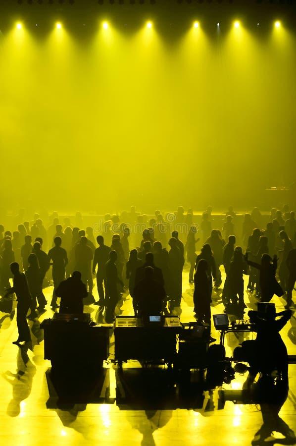 Concierto De La Música Del Club Imagen de archivo