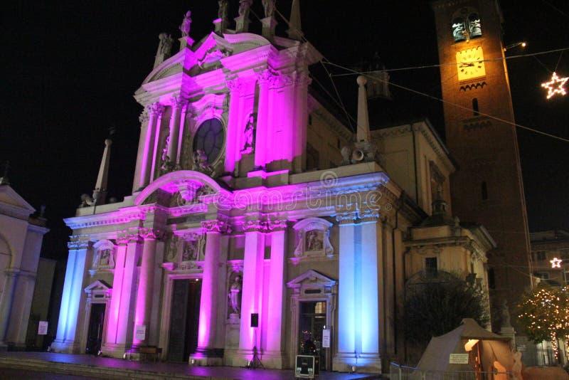 Concierto de la Navidad en la ciudad de Busto Arsizio imagen de archivo libre de regalías