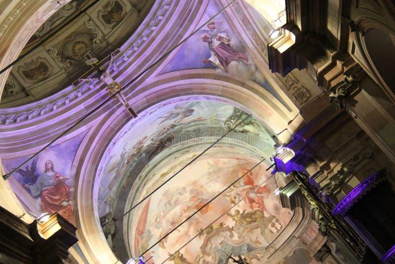 Concierto de la Navidad en la ciudad de Busto Arsizio fotos de archivo