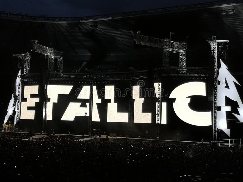 Concierto de Metallica fotos de archivo