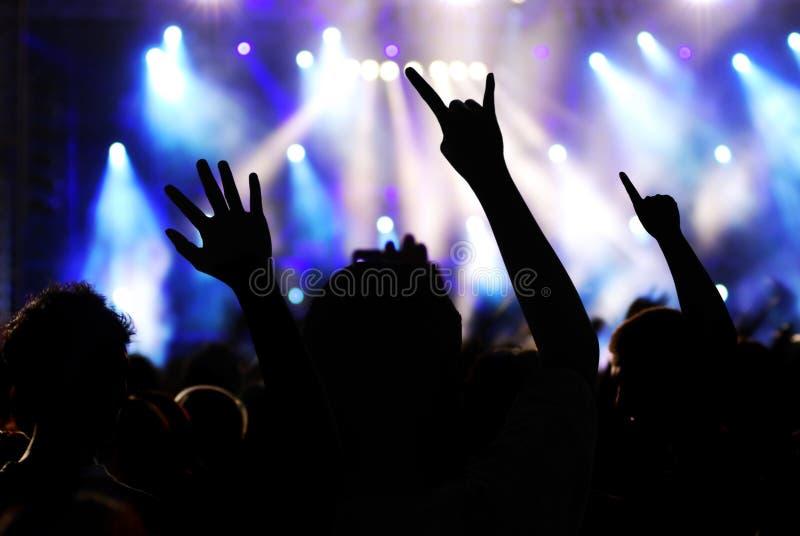 Concierto de rock foto de archivo