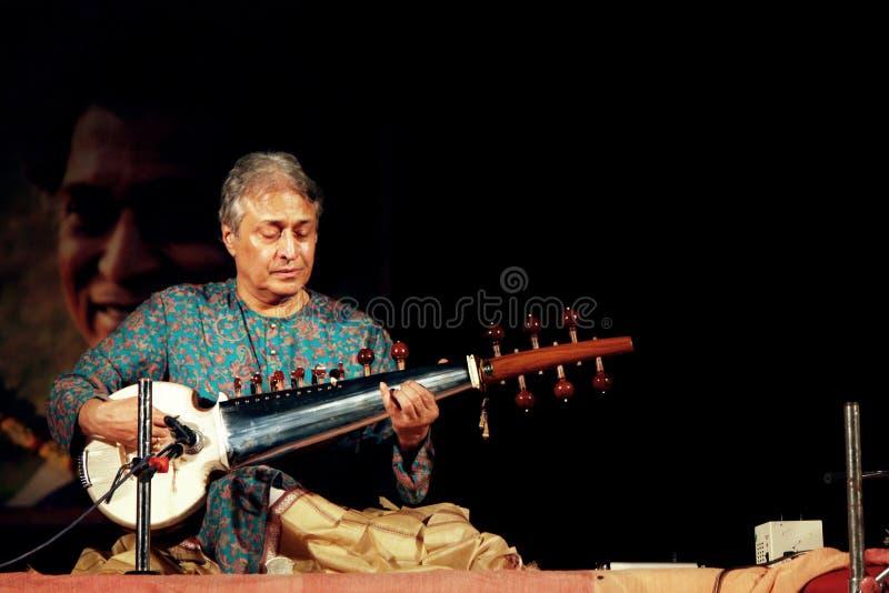 Concierto de Ustaad Amjad Ali Khan en Konark fotos de archivo libres de regalías