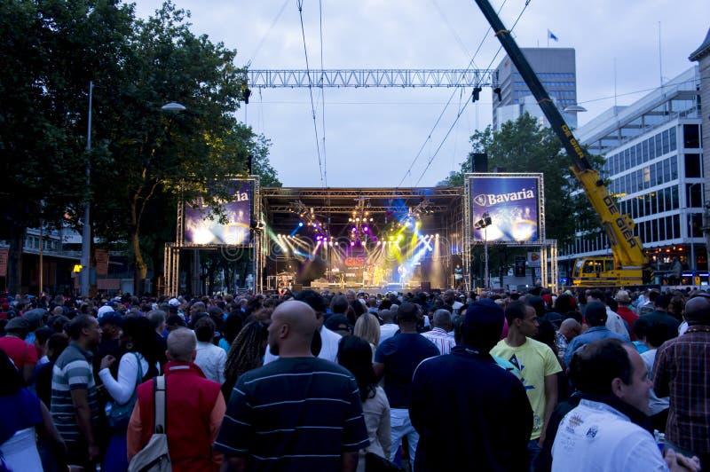 Concierto del carnaval del verano en Rotterdam imagenes de archivo