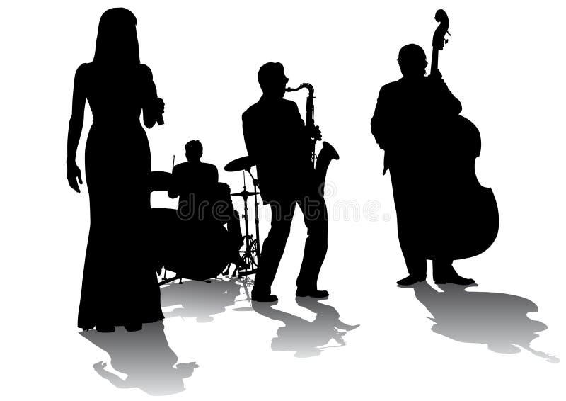 Concierto del jazz ilustración del vector