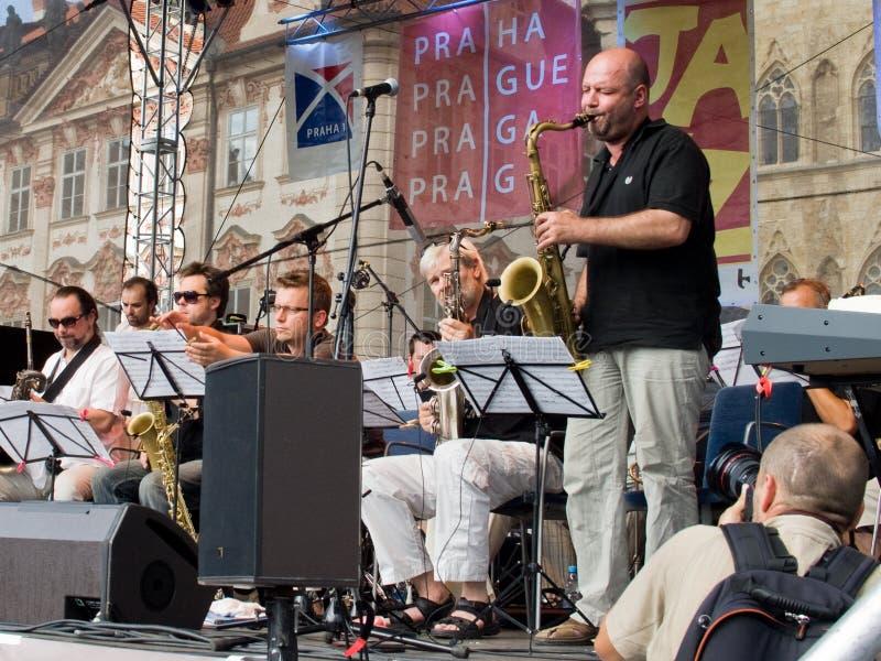 Concierto del jazz de la calle fotos de archivo