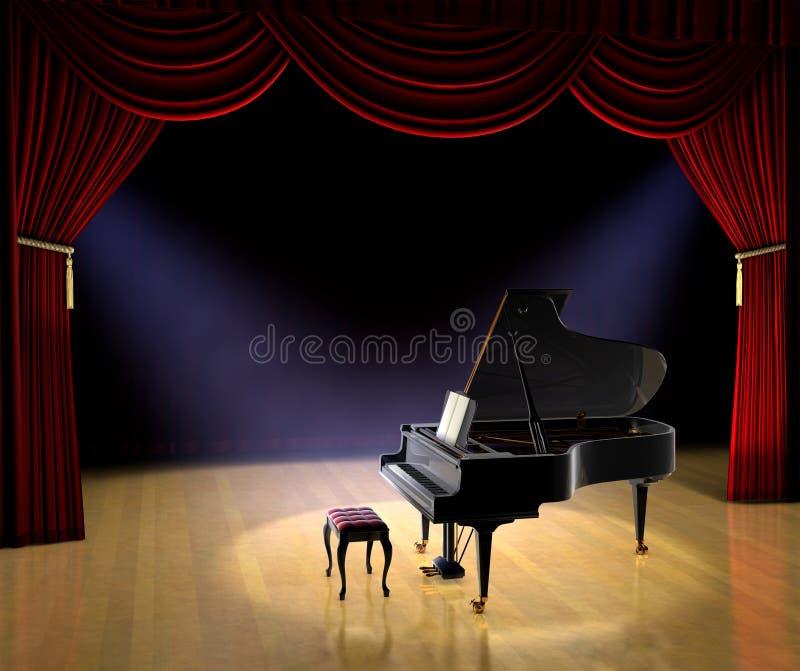 Concierto del piano ilustración del vector