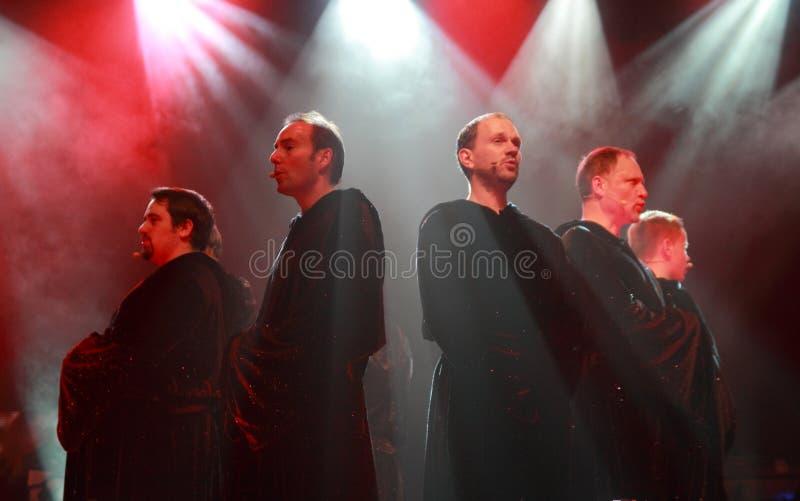 Concierto gregoriano fotografía de archivo