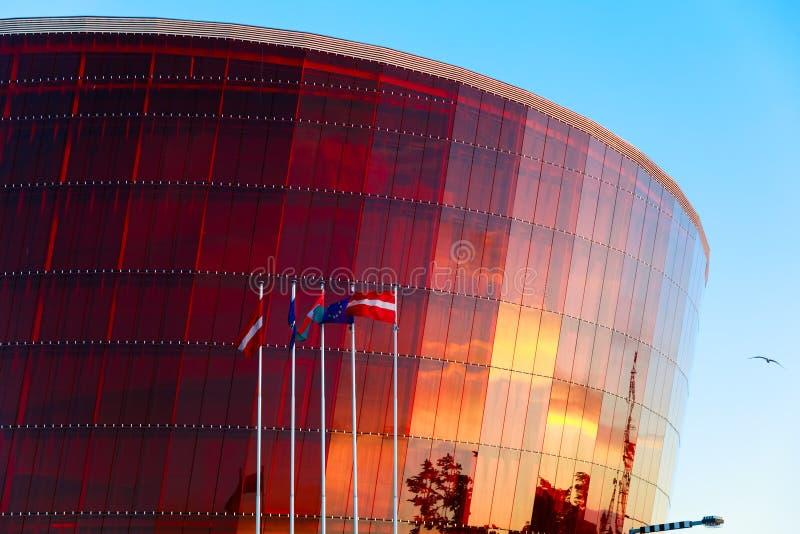 Concierto Hall Great Amber en Liepaja, Letonia foto de archivo