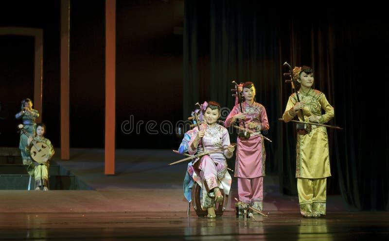 Concierto instrumental popular tradicional chino fotos de archivo libres de regalías