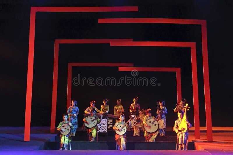 Concierto instrumental popular tradicional chino fotos de archivo