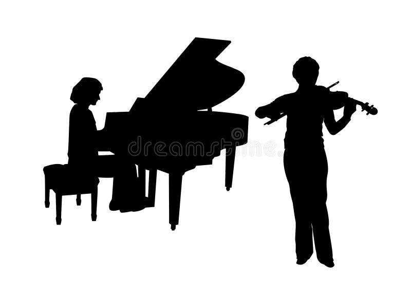 Concierto para el piano y el violín libre illustration