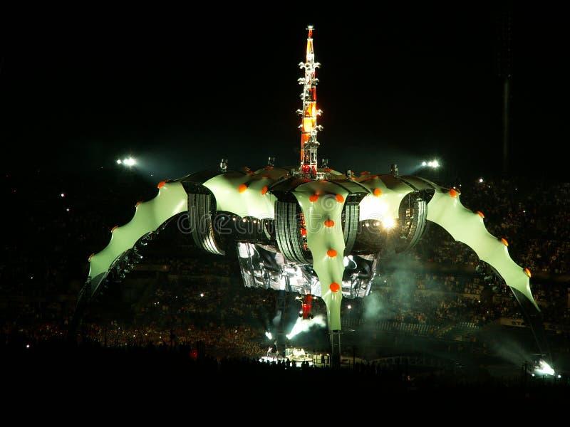 Concierto U2 foto de archivo libre de regalías
