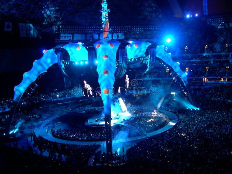 Concierto U2 en Toronto imagen de archivo libre de regalías