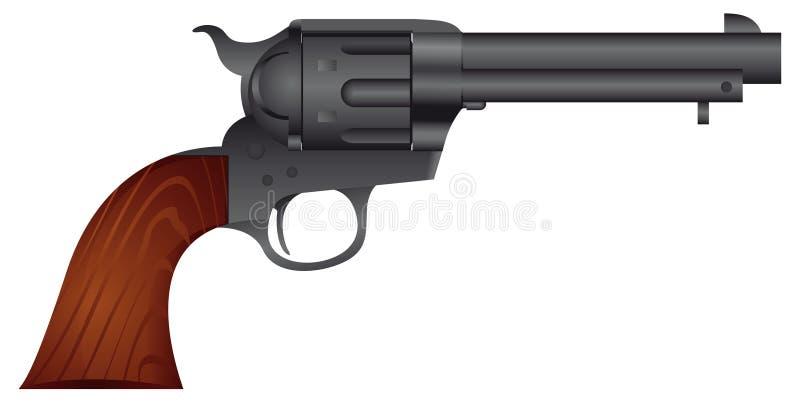 Conciliateur de pistolet de colt illustration stock