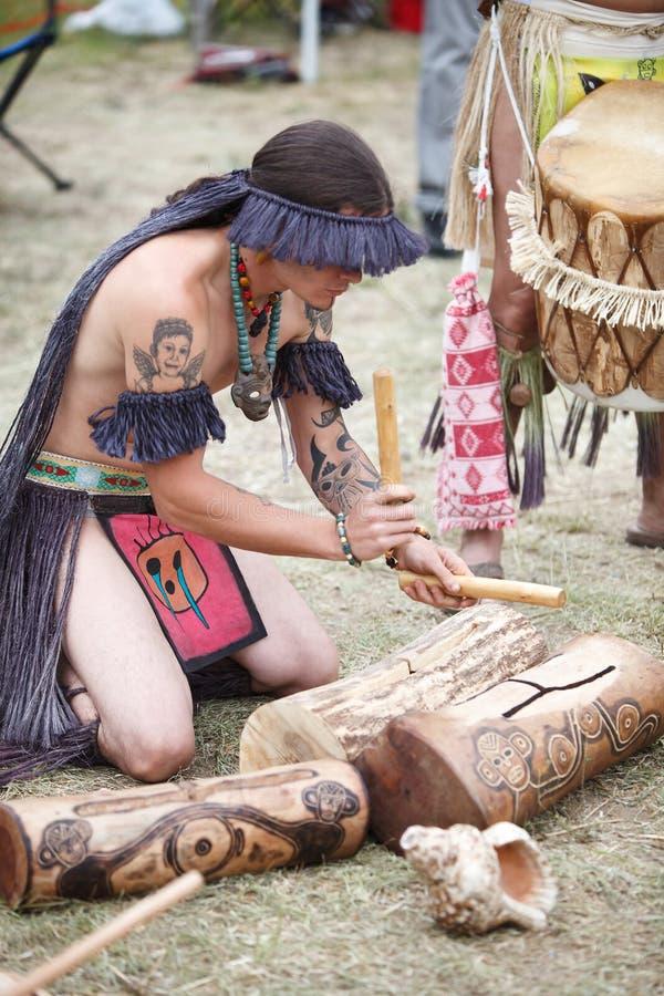 Concilio Taíno Guatu-Ma-cu A Borikén stock photos
