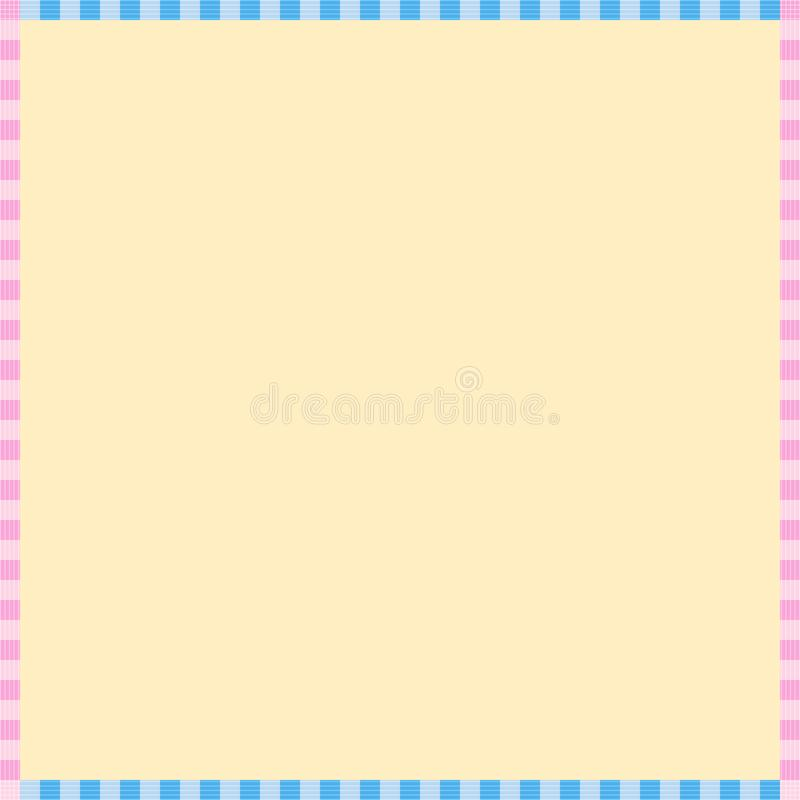 Concise Light Yellow Background, Template, Cute Frame.  royalty free illustration