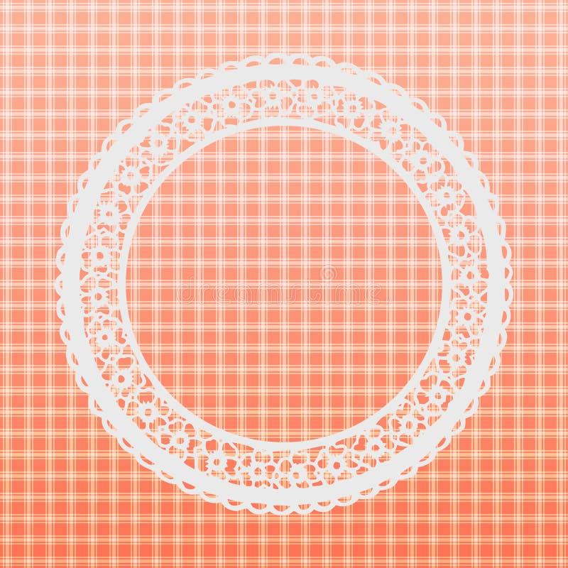 Concise Orange Background, Template, Floral Texture.  vector illustration