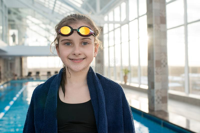 Conclusão do exercício produtivo da natação imagens de stock royalty free