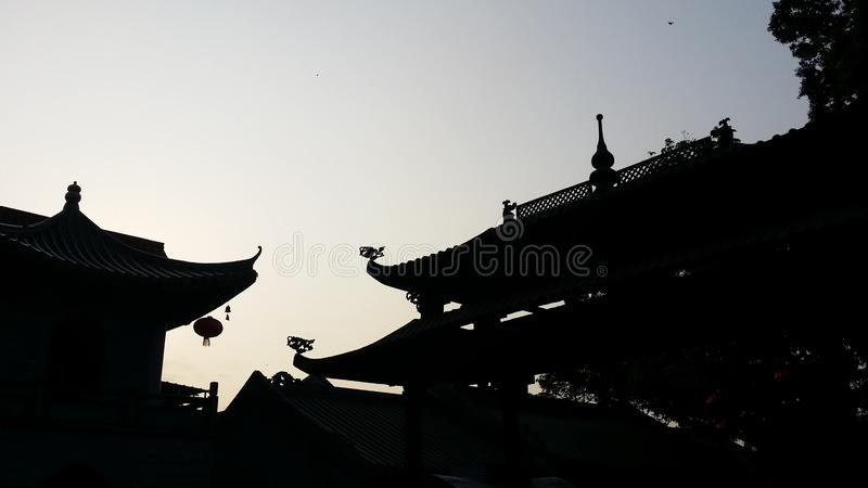 Conclusie van Chinese Taoist architecturale taal stock fotografie