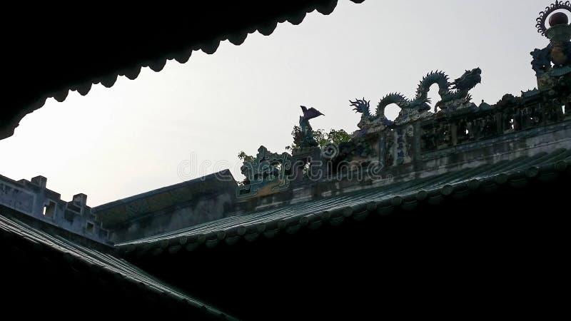 Conclusie van Chinese Taoist architecturale taal royalty-vrije stock afbeeldingen
