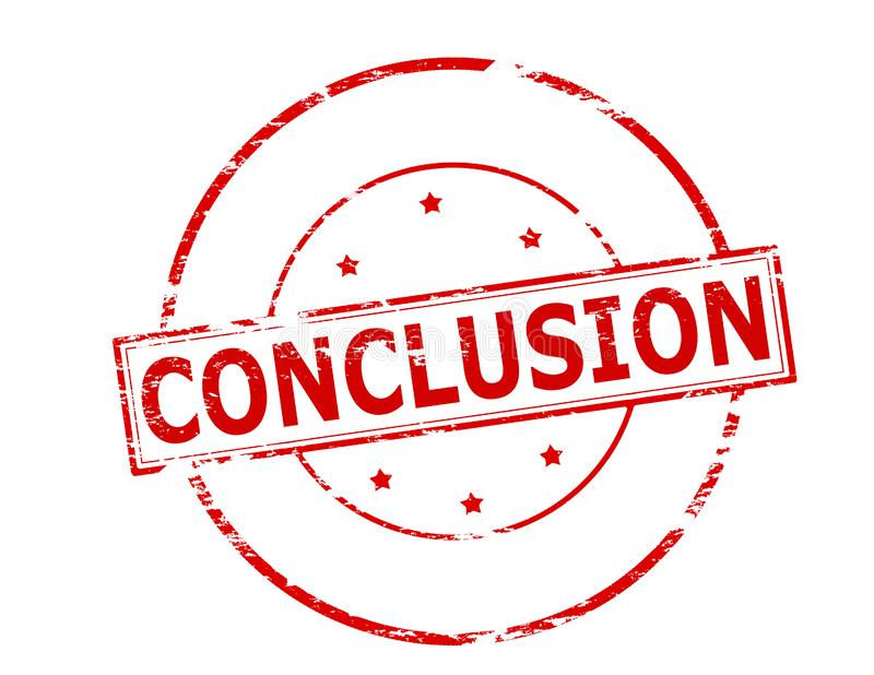 conclusion illustration stock