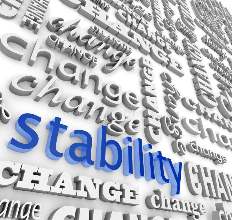 Conclusion de la stabilité au milieu de la modification illustration libre de droits