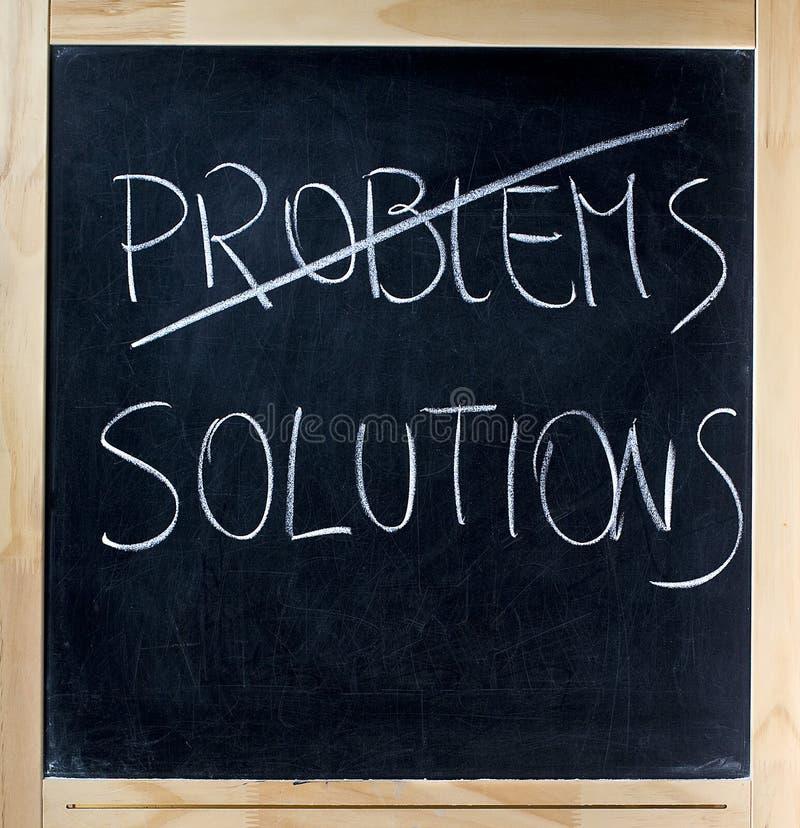 Conclusion des solutions pour des problèmes photographie stock libre de droits