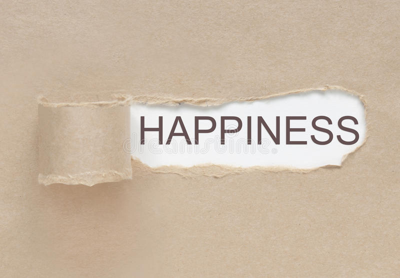 Conclusion du bonheur photographie stock