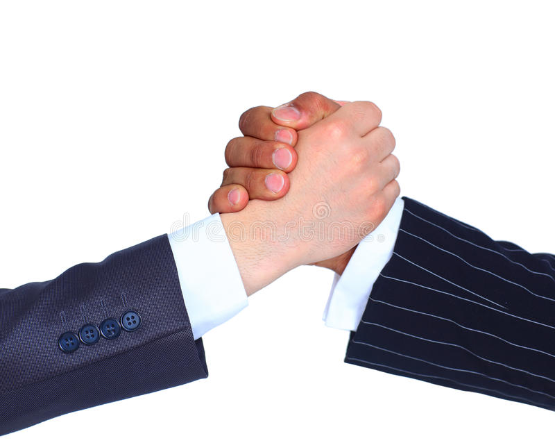 The conclusion of the transaction. Handshake royalty free stock photo