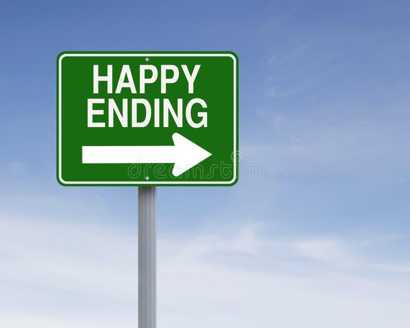 Conclusione felice immagini stock