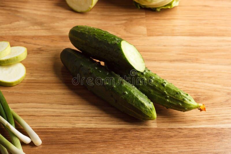 Concombre vert frais photos stock
