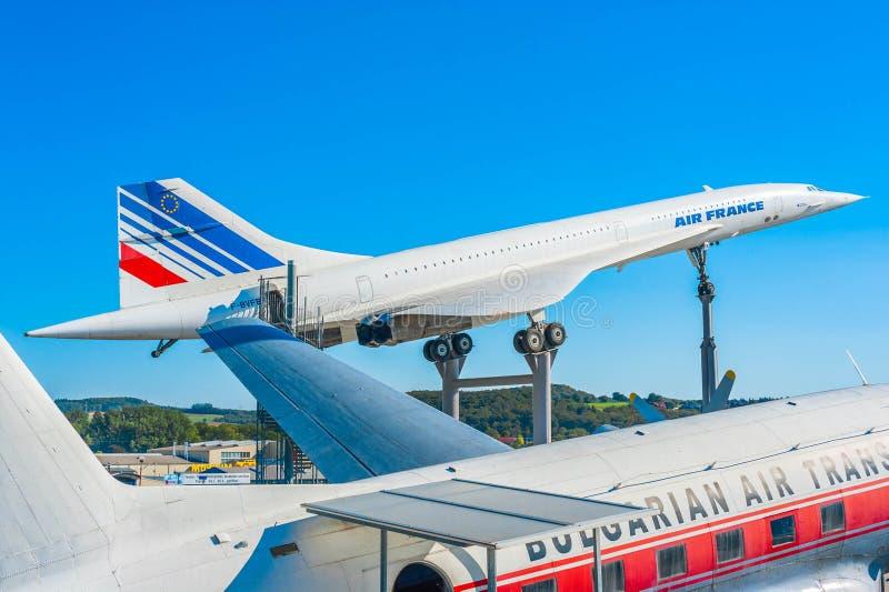 Concorde Überschall lizenzfreie stockfotos