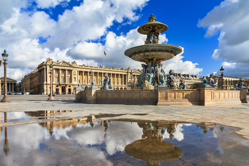 Concorde fountain royalty free stock images