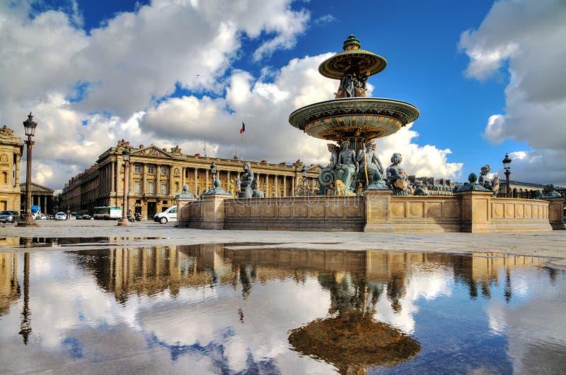 Concorde fountain reflection royalty free stock photos