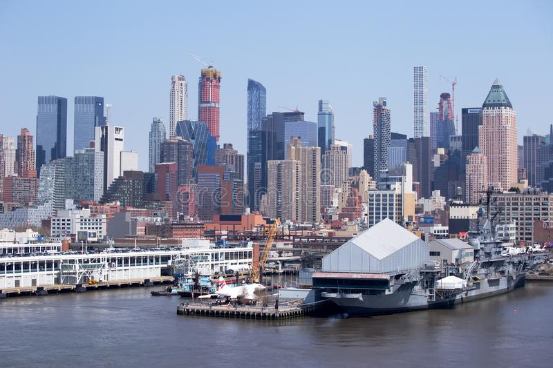 Concorde and Sea, Air and Space Museum, New York stock image
