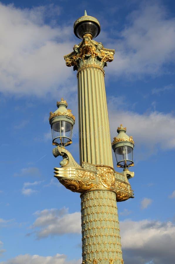 concorde square, detail, paris stock image