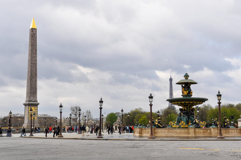 Concorde Square i Paris, Frankrike royaltyfria foton